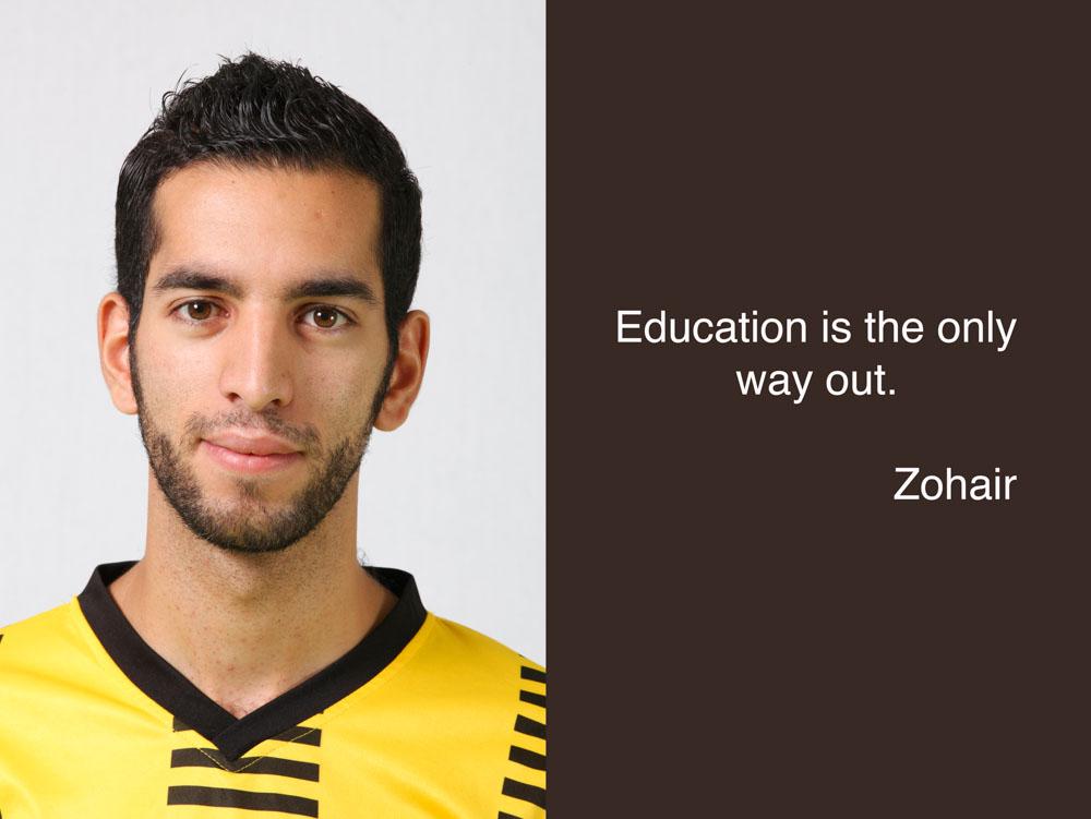 Zohair étudiant