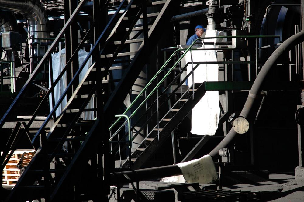 Usine pétrochimie la Cofrablack ou orion carbons au Bec d'Ambes en Gironde