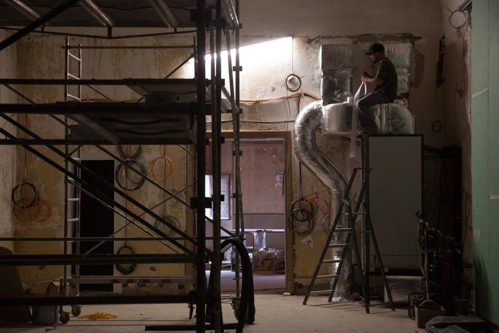 Chantier de rénovation Musée Toulouse-Lautrec d'Albi isolation de la climatisation