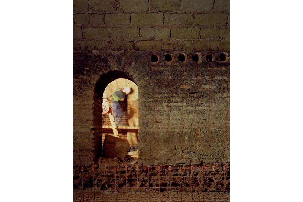 Chantier de rénovation Musée Toulouse-Lautrec d'Albi nettoyage des paroies