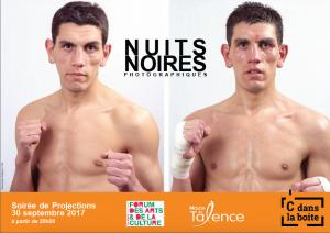Affiche des Nuits Noires Photographiques Boxeur avant et après combat: @ Dominique Delpoux