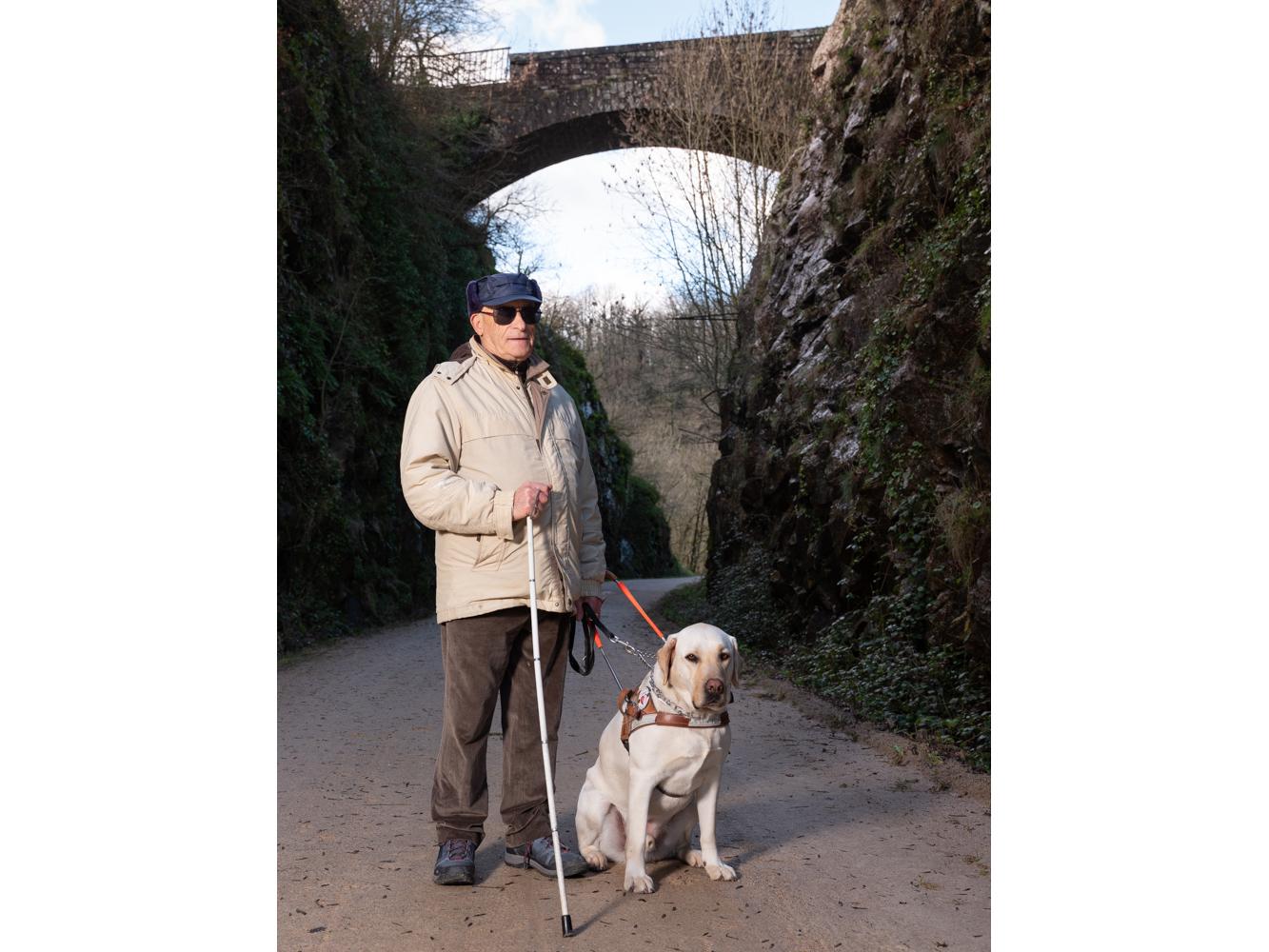 Serge , Lacabarède, retraité, usagers voie verte Parc naturel Haut-Languedoc région Occitanie