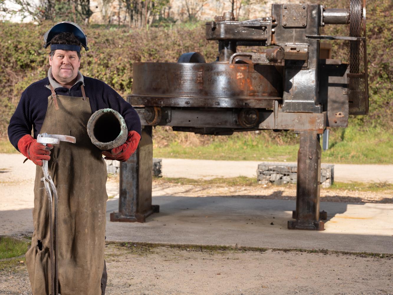 Richard Salles Fondeur, musée de la cloche Hérépian fondeur d usagers voie verte Parc naturel Haut-Languedoc région Occitanie