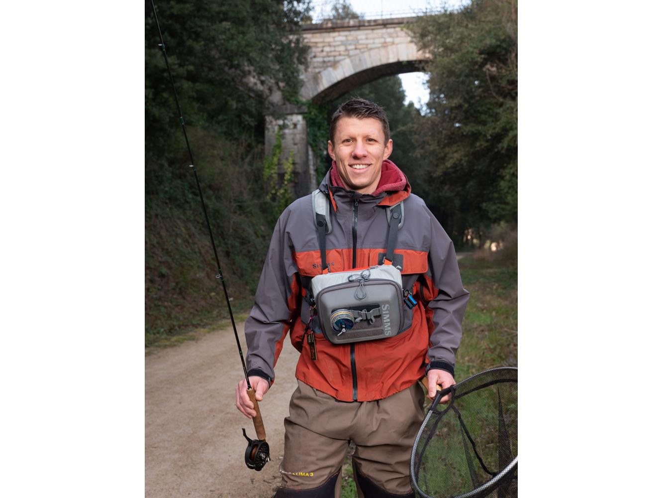 Sébastien , Technico-commercial, le Riols usagers voie verte Parc naturel Haut-Languedoc région Occitanie