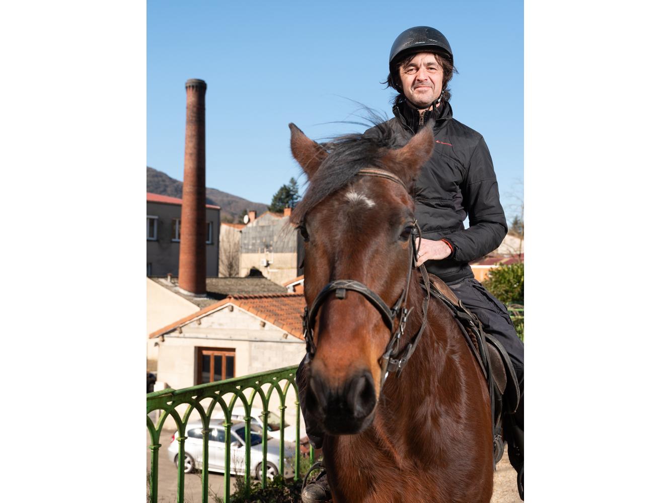 Hugues , régisseur, saint Amans Soult usagers voie verte Parc naturel Haut-Languedoc région Occitanie