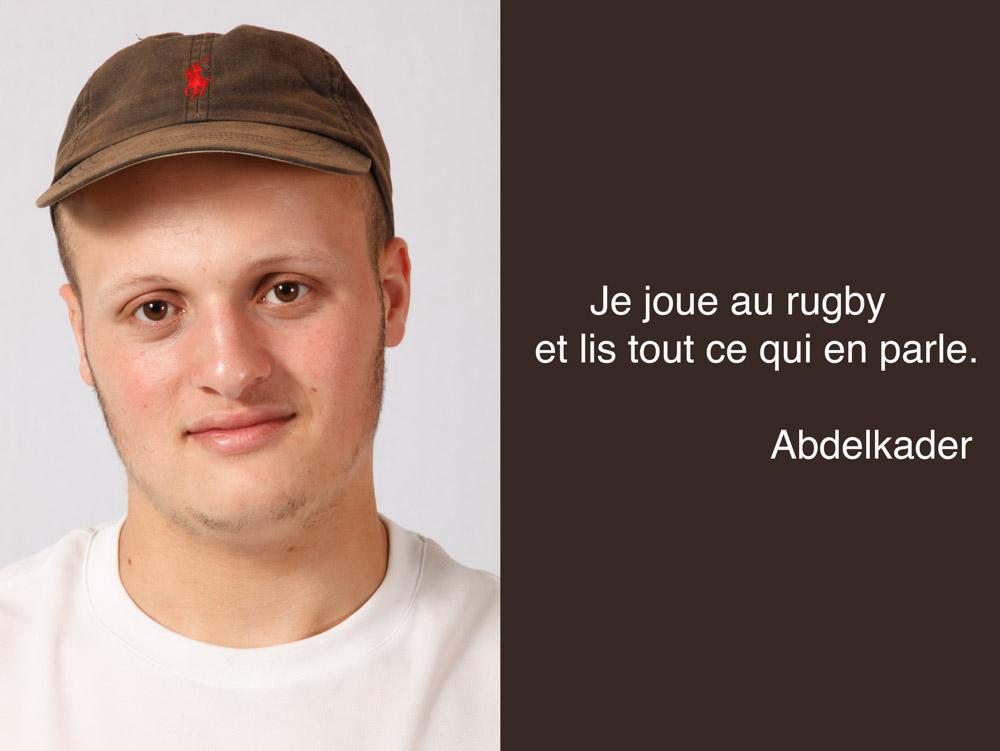 Abdelkader, joueur de rugby