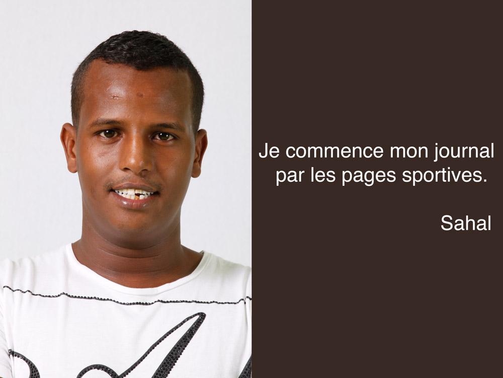 Sahal lecteur de pages de sport