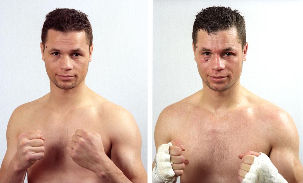 Abdelkader Benzinia, professionel boxe anglaise, Club de Dombasle Combat du 22 février 2008, 1/4 finale championat de France Mi-Lourds