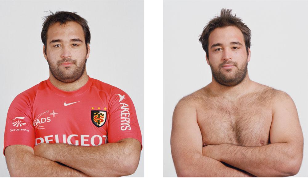 Portraits joueurs de rugby: Yohan Montès, pilier français, international -21