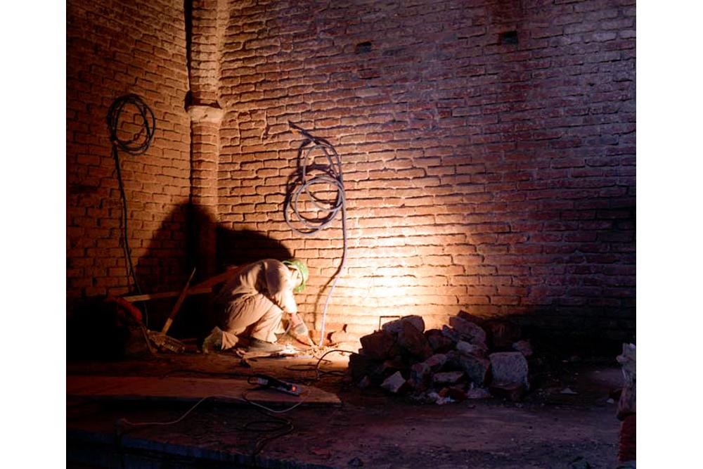 Chantier de rénovation Musée Toulouse-Lautrec d'Albi électrification