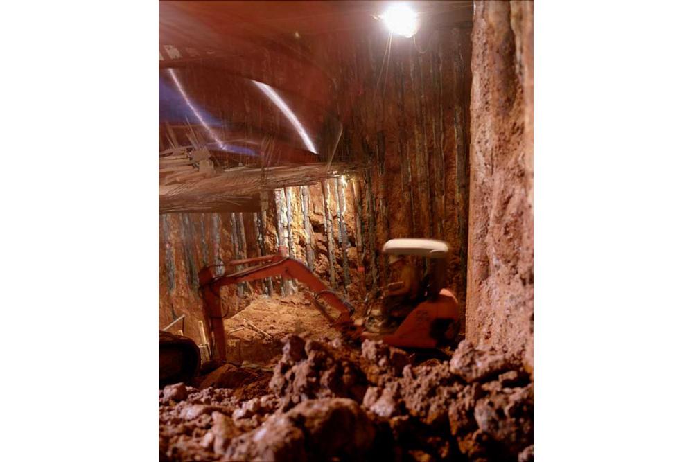 Chantier de rénovation Musée Toulouse-Lautrec d'Albi assainissement des caves