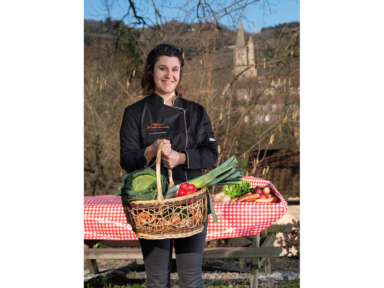 Christelle, Traiteur Saint Amans Soult usagers voie verte Parc naturel Haut-Languedoc région Occitanie