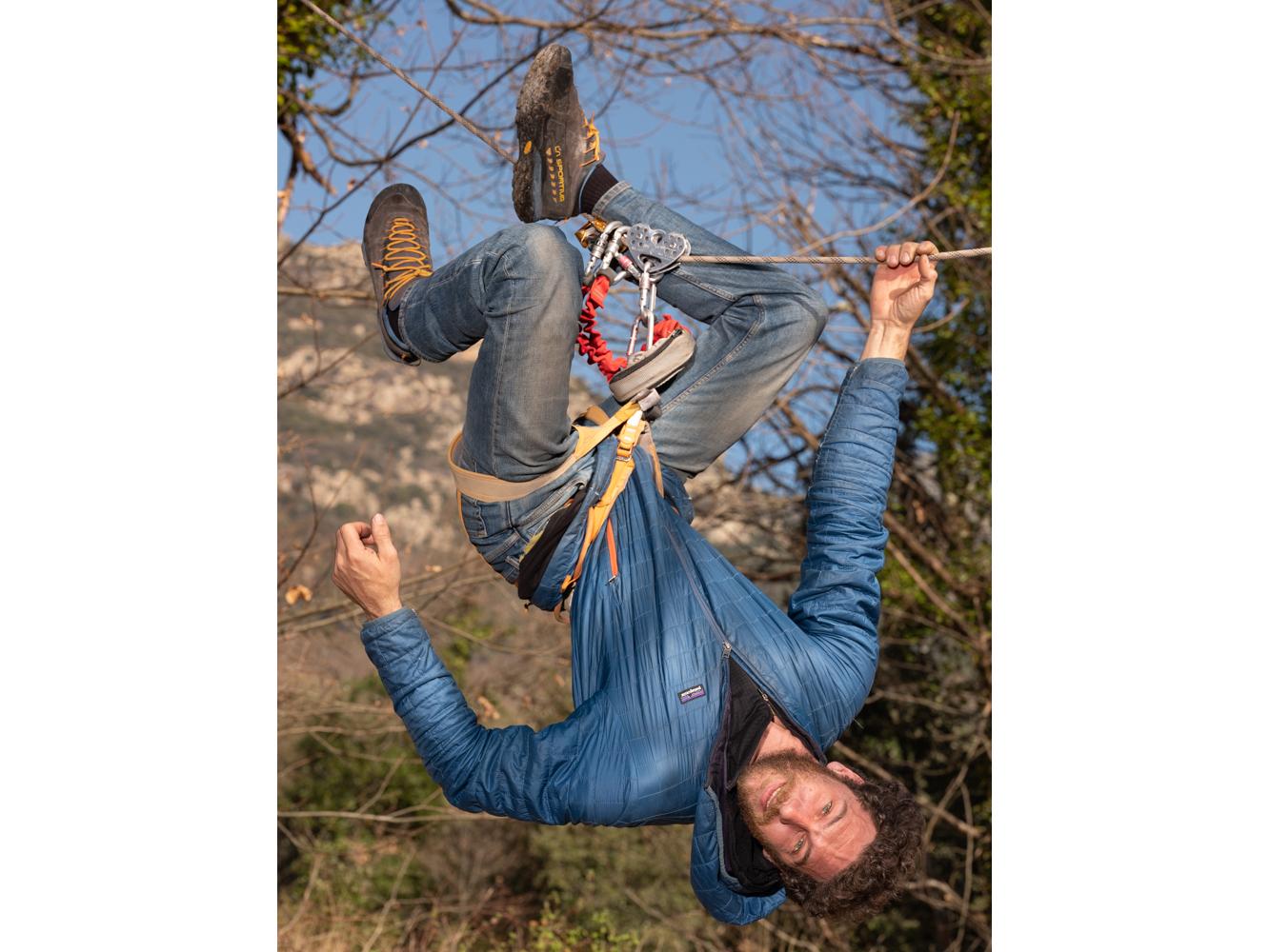 Pierre Moniteur d'escalade Saint Martin de l'arçon usagers voie verte Parc naturel Haut-Languedoc région Occitanie