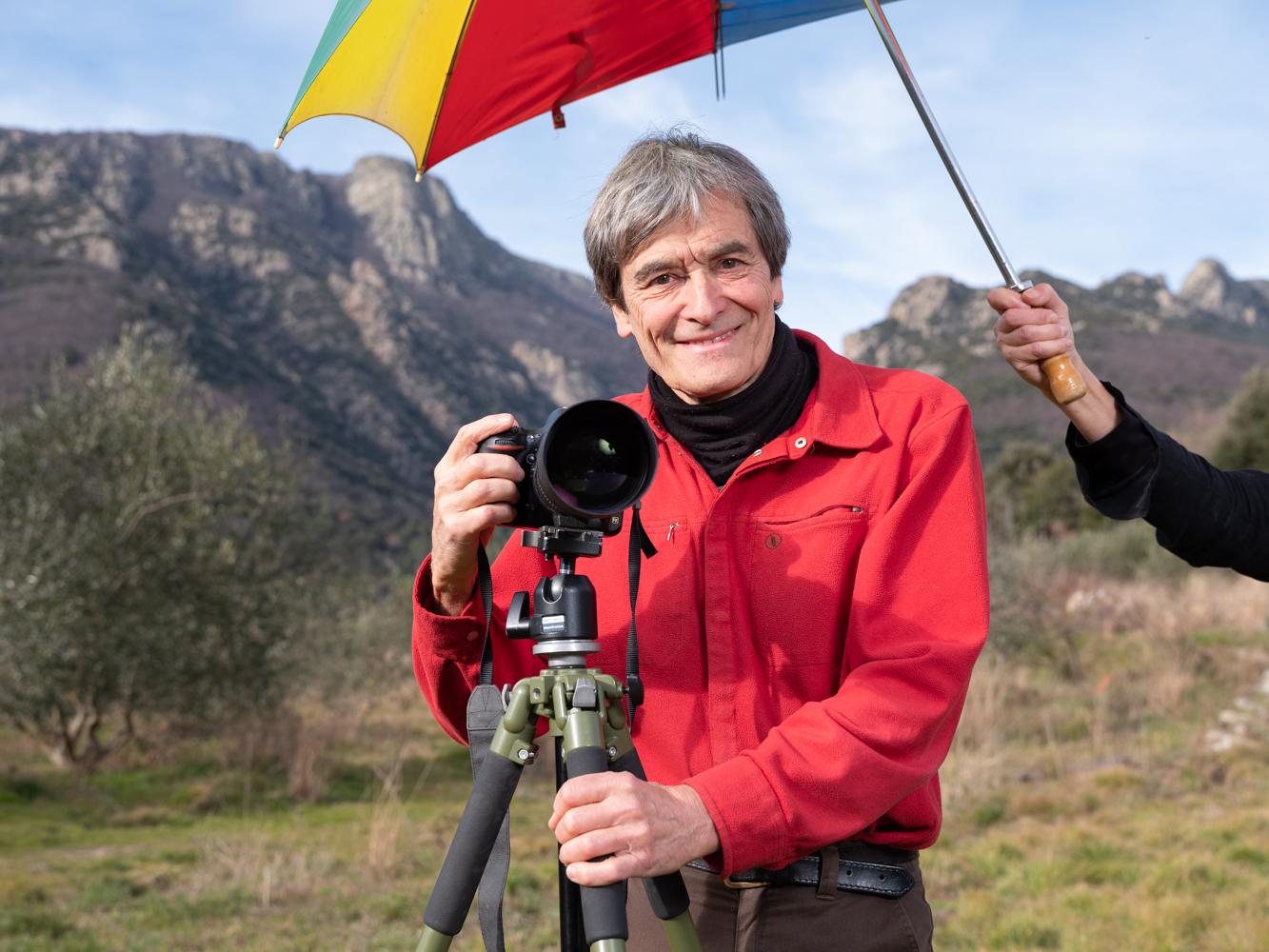 André , photographe, Colombière sur Orb usagers voie verte Parc naturel Haut-Languedoc région Occitanie